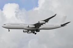 CS-TQY (LIAM J McMANUS - Manchester Airport Photostream) Tags: cstqy hifly 5k hfy skyflyer white airbus a343 a340 343 airbusa340 airbusa340300 egcc manchester man