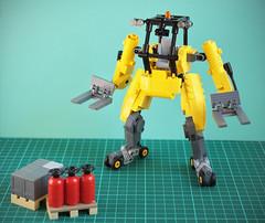 Forklift mecha (vir-a-cocha) Tags: mecha forklift skate robot lego viracocha