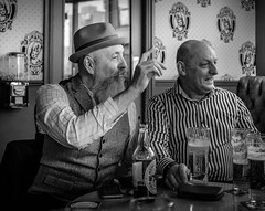 Point of order (rick.midgley123) Tags: man beard beer company friends fuji pub bar ale