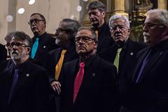 Men on a chorus (Adrià Páez) Tags: men chorus ties colorful church indoor indoors mallorca inca iglesia parroquial de santa maria la major canon eos 7d mark ii glasses