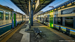 Pozzuoli, Italy: Linea 2 metro and regional commuter shared station (nabobswims) Tags: campania commuterrail commutertrains hdr highdynamicrange ilce6000 it italia italy lightroom metro mirrorless nabob nabobswims naples napoli photomatix pozzuoli rapidtransit sel18105g sonya6000 station