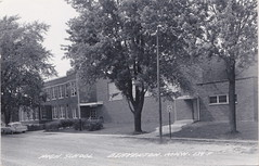"CEN Beaverton Gladwin MI RPPC c.1950s THE OLD HIGH SCHOOL Building and Grounds built in 1936 replacing the original 1908 building on Tonkin Street HOME OF THE BEAVERTON BEAVERS (UpNorth Memories - Donald (Don) Harrison) Tags: vintage antique postcard rppc ""don harrison"" ""upnorth memories"" upnorth memories upnorthmemories michigan history heritage travel tourism restaurants cafes motels hotels ""tourist stops"" ""travel trailer parks"" cottages cabins ""roadside"" ""natural wonders"" attractions usa puremichigan "" ""car ferry"" railroad ferry excursion boats ships bridge logging lumber michpics uscg uslss"