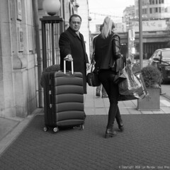 Luggage (Spotmatix) Tags: 25mm belgium brussels camera effects lens monochrome omdem10ii olympus places primes street streetphotography