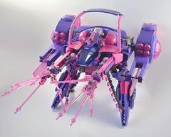 Heartbreaker WIP (Slick_Bricks) Tags: lego mecha wip rarecolor portlug bricks mech robot afol moc purple pink belleville duplo scala heartbreaker