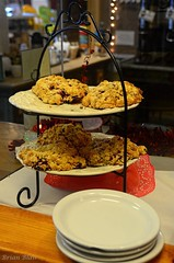 Raspberry Scones (-Brian Blair-) Tags: odc food bakery bake sweet cookie bagel scone chocolate