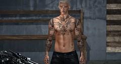 Demon Rider (Paulus Woller) Tags: endlesspaintattoos tattoo male man guy biker