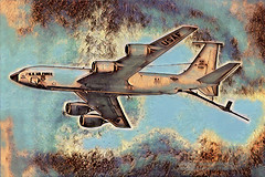 Boeing KC-135R (Vern Krutein) Tags: boeingkc135r unitedstatesairforce refuelingaircraft tanker transport airplane plane aircraft jet aerialrefueler fourenginejet fixedwingmultiengine turbofan military weapons armament history archive aviation aerospace painting sketch paintography abstract