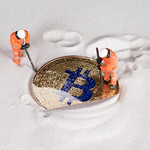 Miners digging ground to uncover golden Bitcoin thumbnail
