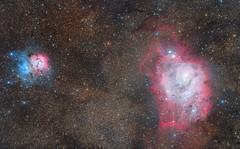 M8 y M20 (fdopc) Tags: deepspace m8 m20 astrophoto astronomy nightsky
