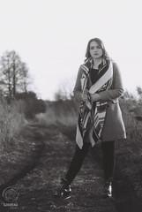 Gabriela. Polypan portrait (mkarwowski) Tags: woman girl outdoor bokeh monochrome blackandwhite analog canont70 canon t70 polypan polypanf50 polypanf portrait people rollfilm