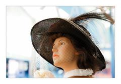 La Femme au chapeau (Jean-Louis DUMAS) Tags: bokeh femme female girl woman youngwoman prettywoman younggirl fille jeunefille jeunefemme portrait portraiture chapeau voilage beautifulgirl beauty lady sexy