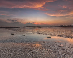 There`s a hunger still unstaisfied (Through Bri`s Lens) Tags: sussex lowtidereflection sunset textures pools rockpool tidepool brianspicer canon5dmk3 canon1635f4 lee09softgrad