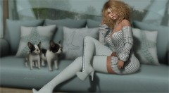 """Wow."" (tarja.haven) Tags: addams mina dress boots meshboots highboots dresspanty longsleevedress offshoulderdress photography photo pixelart tarjahaven avatare sl secondlife digitalart fashion virtual"