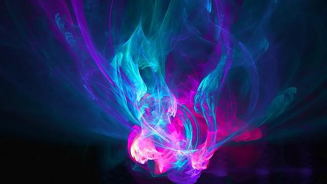 Обои абстракция, огонь, розовый, голубой, фиолетовый, узоры картинки на рабочий стол, фото скачать бесплатно