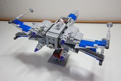 (Improved) Standard Resistance X-wing: Combat Mode Back-Top-Right View (Evrant) Tags: lego star wars custom x wing moc starfighter spaceship starship ship t70 t 70 resistance evrant