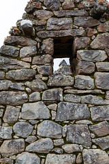 The Lookout (Ben-ah) Tags: house building view window hole machupicchu lookout ruins peru wall stone granite mountain unesco worldheritagesite citadel