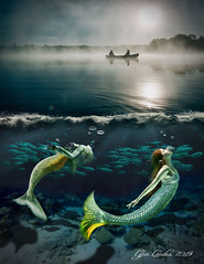 Good Morning (pcgirl2005j) Tags: mermaids imagination fantasy underwater fog fantasie boat fish swimming bubbles water lake