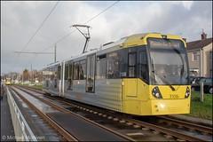Metrolink 3108 (Mike McNiven) Tags: manchester metrolink tram metro lightrail lrv manchesterairport airport wythenshawe roundthorn martinscroft victoria marketstreet