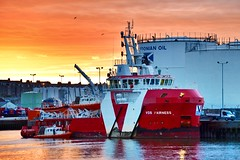 VOS Fairness - Aberdeen Harbour Scotland - 14/01/2019 (DanoAberdeen) Tags: oilships shipping starboard berth ship metal aberdeenscotland aberdeenharbour danophotography caledonianoil litsky redsky sunset vosfairness candid amateur 2019 danoaberdeen aberdeen harbour abz abdn grampian uk gb psv seafarers maritime fairtradecity ships boat offshore oilrigs supplyships cargoships workboats oilandgas footdee fittie seascape water northeast tug tugboats geotag tagged seaport sailor sealife shipspotting shipspotters scotch scotland marineoperationscentre pocraquay northeastscotland