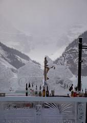 The Ice Bar (Lee Rosenbaum) Tags: sculpture banffnationalpark landscape art icesculpture bar alberta mountains ice canada lake lakelouise snow mountain