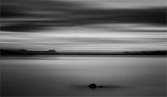 benidorm mono (Andre Van de Sande) Tags: beach sunset spain benidorm motion blur