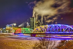 Cold beauty Calgary (John Andersen (JPAndersen images)) Tags: bowriver bridge calgary cold night polarvortex steam