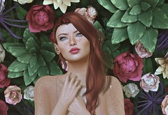It's been a good year for the roses. (Bunny (Cuneen68)) Tags: secondlife avatar virtualworld virtualgirl freckles redhead ginger titian blueeyes magika catwa suicidalunborn pinkfuellipstickapplier indigoposes skinnery