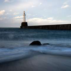 The South breakwater (PeskyMesky) Tags: aberdeen aberdeenharbour southbreakwater harbour longexposure water sea ocean scotland canon canon5d eos