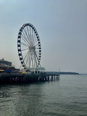 The Great Wheel (Jamie Kerr) Tags: iphone8 iphone trip vacation outside outdoors scenery travel us usa america seattle greatwheel