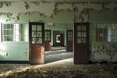 Wooden Doors (michaelbrnd) Tags: abandoned urban exploration asylum mental hospital urbex