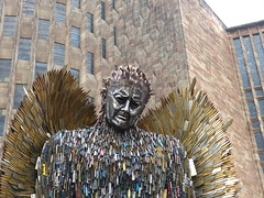 The Knife Angel. P1530922 (Joy Shakespeare) Tags: theknifeangel alfiebradley sculpture knifeangelcampaign coventrycathedral coventry uk britishironworkcentre