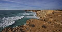 Hello - From Sagres (Mike.Geiger.ca (Myke)) Tags: 2019pt algarve atlantic cliffs coast coastline ocean panorama panoramic portugal sagres scenic sea seashore water waves faro