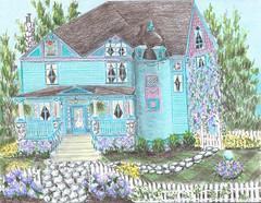 2007 Hydrangea Street (Victorianlover) Tags: hydrangea queen anne victorian valley turret cobblestone kiley secrest house