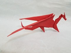 Dragon (Matthew J. Dunstan) Tags: dragon origami paper art folding design fantasy