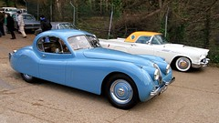 1954 Jaguar XK120 UPC 787 (BIKEPILOT, Thx for + 5,000,000 views) Tags: brooklandsnewyearsdaygathering brooklandsmuseum weybridge surrey uk 2019 1954 jaguar xk120 upc787 blue england britain car automobile vehicle transport classic vintage sportscar icon
