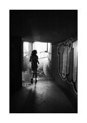 The alley (BLANCA GOMEZ) Tags: spain mad madrid bw blackwhite silhouettes light shadows textures shapes alley pasadizo tunel architecture arquitectura grafitti pintadas