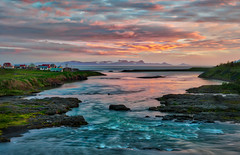 A Serene Moment in Iceland (Trey Ratcliff) Tags: iceland stuckincustoms stuckincustomscom treyratcliff icelandic sunset river sea hamlet hdr hdrtutorial hdrphotography hdrphoto aurorahdr texture tutorial
