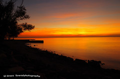 Sunset at Lago di Garda by Riare (El Greco Travelphotography) Tags: italy travel autumn pentax pentaxk50 veneto lake water sunset landscape view nature color trees beach sky light