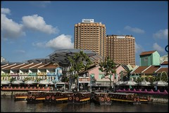 Singapore Clarke Quay bum boats-1= (Sheba_Also 16 Million Views) Tags: singapore clarke quay bum boats