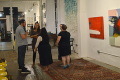 Conversation in the gallery (radargeek) Tags: 2018 waco texas tx june downtown cultivate7twelve art gallery painting summer