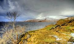 Loch Assynt, Highland, Sutherland, Scotland, UK (Janusz W.) Tags: scotland scozia sky schottland scotia szkocja pentax pentaxk3 landscape snow assynt lochassynt winter