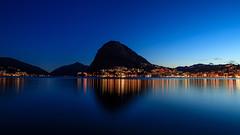 (A Sutanto) Tags: blue hour lugano lake lago switzerland night lights twilight dusk city reflection