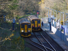 150247 & 150263 Penryn (1) (Marky7890) Tags: 150247 2t83 gwr 150263 class150 sprinter 2f84 penryn railway cornwall maritimeline train