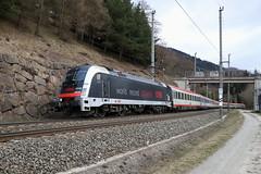 ÖBB 1216 025-7 World record 357km/h, Eurocity Mühlbachl (TaurusES64U4) Tags: taurus 1216 es64u4 öbb