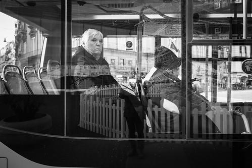 stranger in a bus