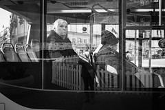 stranger in a bus (MarioMancuso) Tags: 18mm xpro2 black blanc bn bw city documentary fujifilm italia italian italy life light mancuso mario mirror mono monochrome monocrome naples noir people photo photography photogrphy reportage road scene shot street streetart streetphoto streetphotography urban white