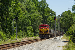 Nothing but a Signal (travisnewman100) Tags: kansas city southern kcs locomotive emd signal control point east rankin meridian subdivision transcontinental division sd70mac belle freight manifest mshns