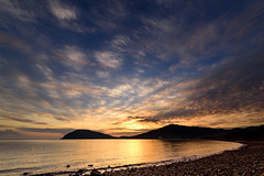 夕暮れひつじ雲ーAltocumulus clouds at dusk (kurumaebi) Tags: yamaguchi 秋穂 山口市 nikon d750 nature landscape 雲 cloud autumn 秋 sky 空 sunset 夕焼け