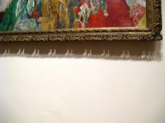 Cadre supérieur (Robert Saucier) Tags: newyork newyorkcity manhattan musée museum tableau mur wall ombre shadow flou blur img3823