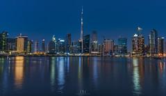 Dubai Skyline (Hany Mahmoud) Tags: dubai dubaiskyline burjkhalifa towers water reflection luxury gulf emirates uae cityscape city